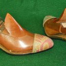 Transparent See Thru Magdesians Painted Slingback Clear Shoes Vintage 80s NOS 7M