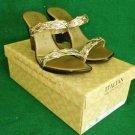 Nos in Box Italian Shoemakers  Platform Wedge Sandals Shoes Metallic Deadstock 7