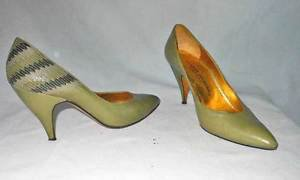 Vintage 70s Charles Jourdan by Bernardo Pucci Low Cut Pumps Shoes 38.5 Quilted