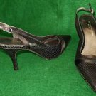 NOS Adrienne Vittadini Snakeskin Slingbacks Sandals Pumps Shoe 8M Pin Heels
