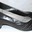 Bruno Magli Peep Toe Cone Heel Pumps Shoes 8.5 AA Black