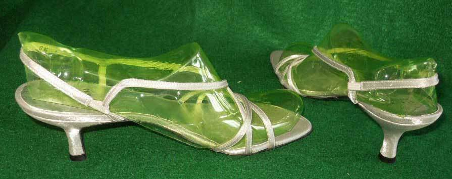 Stuart Weitzman Strappy Silk Silver Roman Sandals Shoes Pin Heel Sexy Gray 8.5M