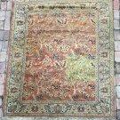 "Khorassan Vintage Oriental Persian Rug Carpet 62""x 88"" Animal Fish Figure Trees"