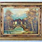 R Klaus Austria Landscape Vintage Original Painting Country Village Reinhold