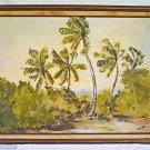 Vintage Folk Painting Florida Landscape Everglades Swamp Inside Hammock Reace