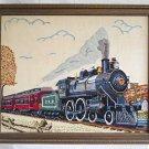 Vintage Needlework Antique Locomotive PRR Railroad 903 Iron Horse Nostalgia Penn