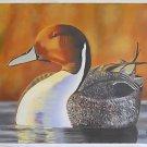 Folk Outsider Naive Vintage Painting Great Big Golden Duck Pond Pratt Ornithogy
