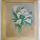 Art Deco Vintage Antique Painting Floral Calla Lilly Still Life Flower  Gamartin