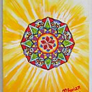 Outsider Folk Mandala Original Painting Kaleidoscope Geometric Modernist Aguiar