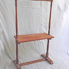Antique Quilt Rack Table Shelf Stand Display Textile Decor Wood Country Rustic