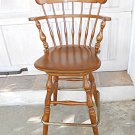 Vintage Ethan Allen Tall Bar Kitchen Counter Stool Heirloom Solid Wood 10-6095