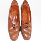 Gucci Vintage Pumps Brogues Booties Lace Up  Stacked Wood Heel Stripe Shoes 7