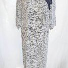 Maxi Vintage 80s NOS Alessia Italy Dress Knot Sheath Origami Flowy Deadstock 42