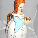 California Pottery Figural Girl Coffee Pot Lee Mid Century Modern With Lid Gold