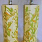 Lamps Vintage 60s Pair Sunny Blooming Daisy Annie Laurie Palm Beach Decor Preppy