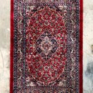 """Vintage Oriental Persian Rug Carpet 25"""" x 40"""" Red Blue Shabby Chic"""