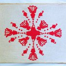 Antique Vintage Russian Needlework pre 1944 Folk Art Historical Symbollic Framed