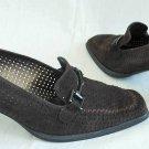 Vintage Classic Loafer Leather Moccasin Pumps Stuart Weitzman Shoes 6 Horse Bit