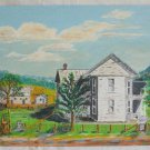 Folk Naive Vintage Painting  Western Queen Anne Ranch Homestead  Tin Roof Koepke