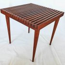 Mid Century Modern Original Vintage Slat Top Table Wood Side Coffee Smilow Mod