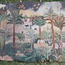 Wissa Wasef Egypt Vintage 50s Weaving Tapestry Figural Signed Rural Orientalism