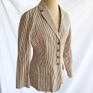 Bottega Veneta Deadstock Blazer Jacket Nos Linen Stripe Fitted  Stripe Spring