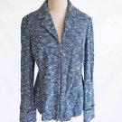 St John Collection Dead Stock Vintage Knit Jacket Blazer Blue Tweed Tunic NOS 8