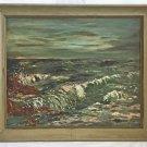 Mid Century Modern Western Vintage Original Painting La Jolla California  Ocean