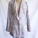 Chanel Jacket Tunic Summer Dead Stock Vintage 80s Bouclé Tweed Blush Pink  Nos