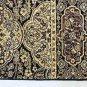 Vintage Oriental Rug Vintage Carpet Prayer 27x46 Figural Flowers Birds Black