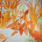 Manuel Canovas Fabric NOS Fermina Botanical Print 10 Yards Orange Deadstock Bolt