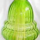 "Hollywood Regency Massive Lamp Vintage Mod Green Glass Interior Light  22"" Tall"