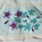 Vintage Needlepoint Chair Pillow Cover Romantic Spring Violets Furniture