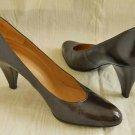 Charles Jourdan Cone Heel Princess Shoes Leather Pumps 7.5AA Elegant Vintage