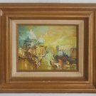 Paris France Oil Painting Abstract Vintage Modernist French  Sacre Coeur Ideller
