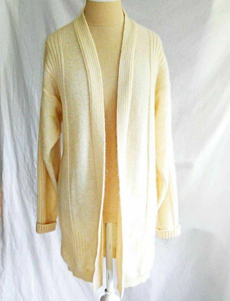 Averardo Bessi Tunic Vintage 80s Deadstock Mohair Long Sweater Coat Fuzzy Italy
