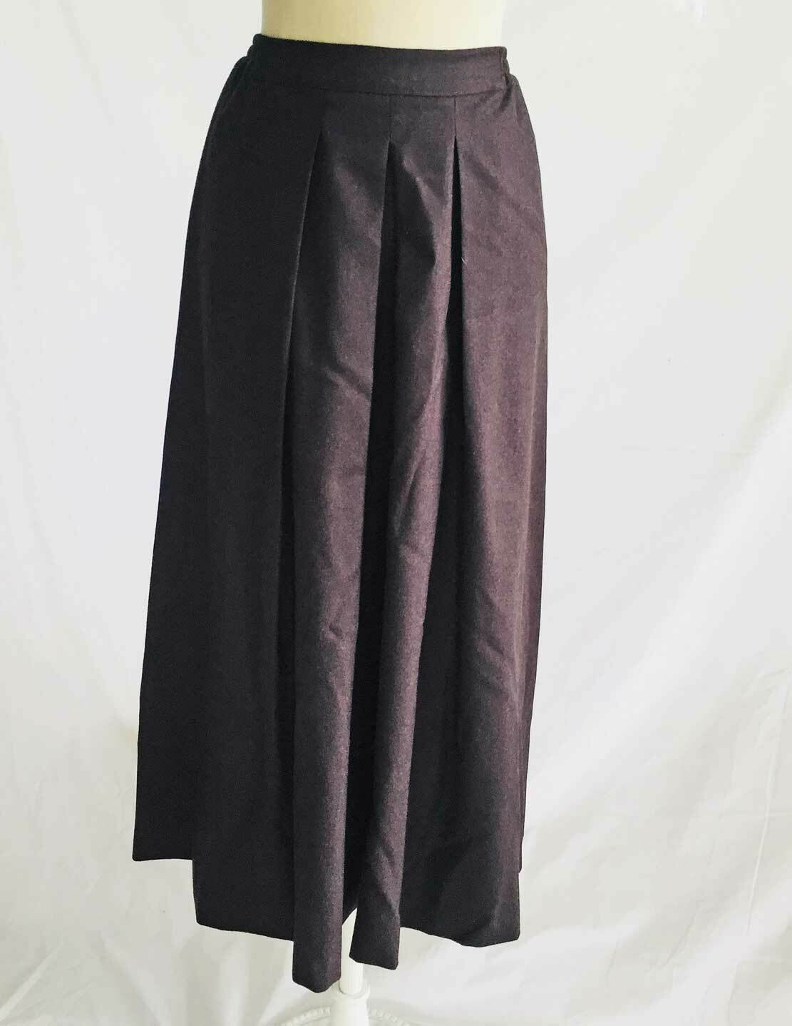 Eskandar Culottes Skirt Dead Stock Split Maxi Midi Wool Cashmere Brown Nos 1
