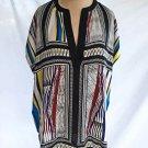 Diane von Furstenberg Alana Tunic Silk Top Blouse Cocoon Dead Stock Print 10