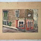 Fred Sargent Vintage Original Painting Art Guild Marblehead Mass Watercolor