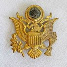 "Pin Vintage Military Eagle Shield Large 2 3/8"" US American Legion Star Gold"