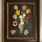 Spooky Modernism Gothic Floral Still Life Vintage Original Painting Franco 69