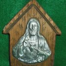 Inspirational Sculpture Vintage Rustic Wood Religious Aluminum Jesus Folk Art