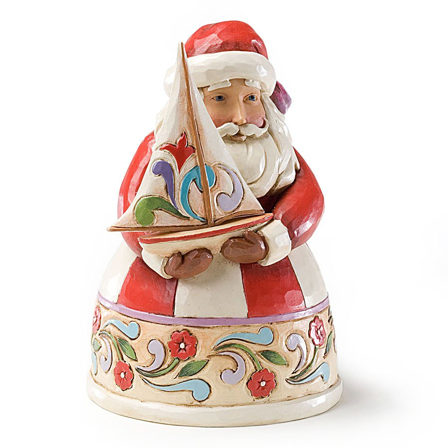 Jim Shore Pint Sized Santa with Sailboat