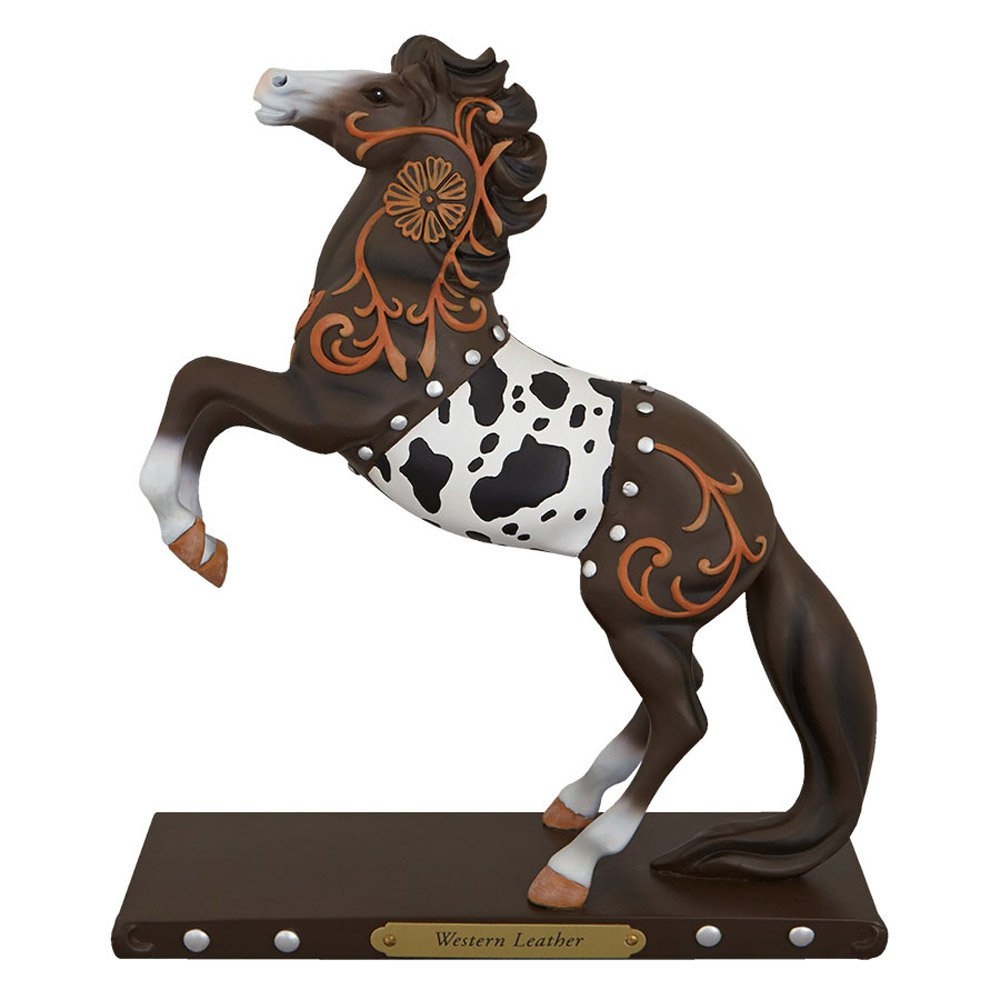 1E #540 Western Leather Horse - Trail of Painted Ponies Figurine