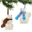 Department 56 Knit Wits Porcelain Christmas Squirrel Ornament - Set of 2