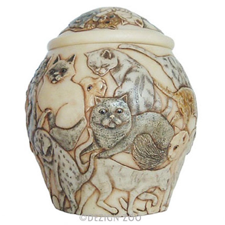 Cats Galore Jardinia Cat Cachepot Memorial Urn