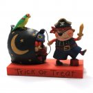 Trick Or Treat Halloween Boy in Pirate Costume Figurine