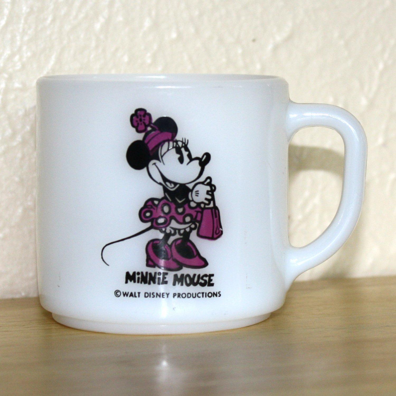 Vintage Disney Federal Milk Glass Minnie Mouse Mug