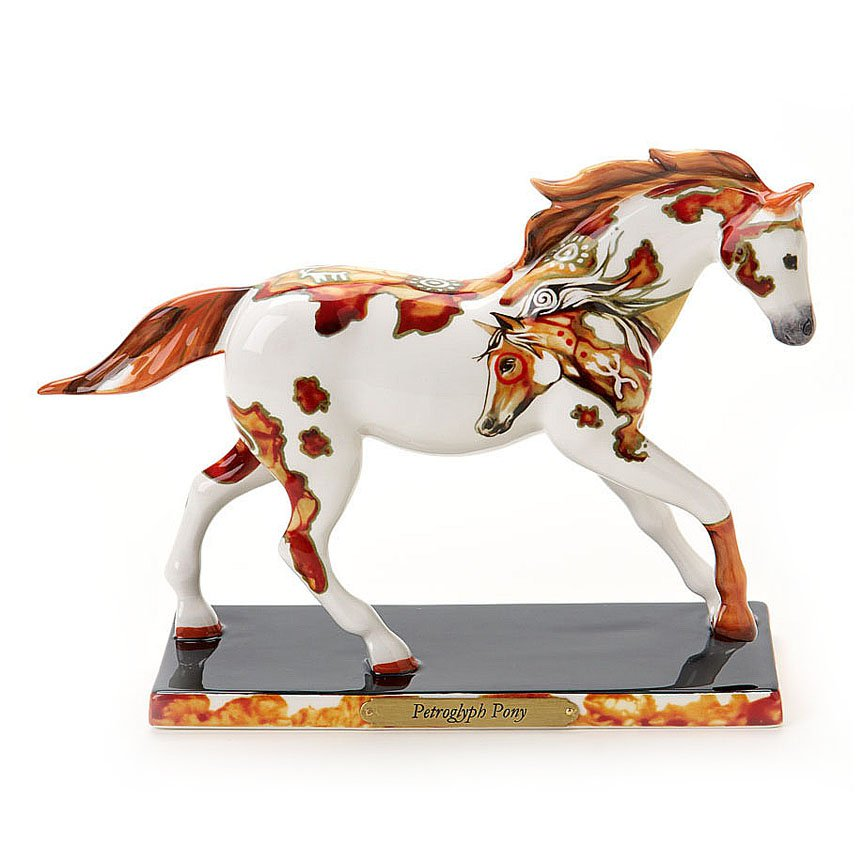 Ceramic Trail of Painted Ponies Petroglyph Pony Horse Figurine