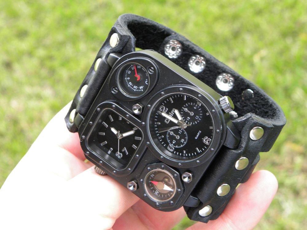 Men `s Oulm watch cuff  adjustable bracelet  Buffalo Leather nice craft gift